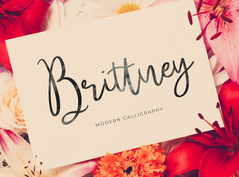 Brittney Font free handwritten handlettering lettering script font typography calligraphy font