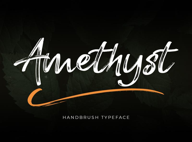 Amethyst Brush Font modern calligraphy font hand lettering font handlettering lettering script font brush font handbrush