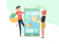 App development - illustration