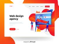 Web design agency - illustration