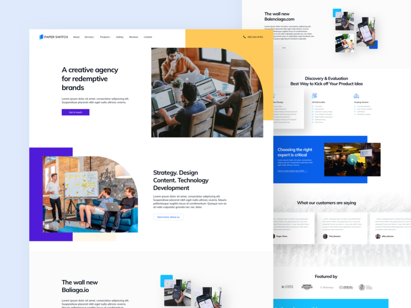 Paper Switch - Agency Landing Page