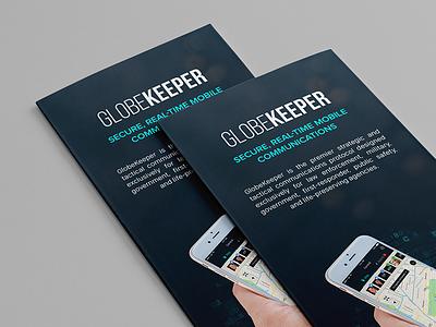 Globekeeper   Brochure police swat security secure mobile app brochure globekeeper