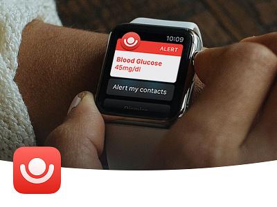 Alert by HelpAround glucose iphone apple watch diabetics app