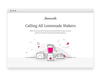 Lemonade Makers career fruits mixer blender jobs hiring position lemonade