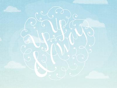 "Graduation invitation - ""up up and away"""