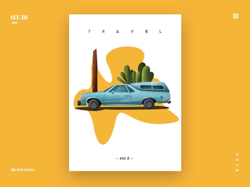 car yellow car illustration