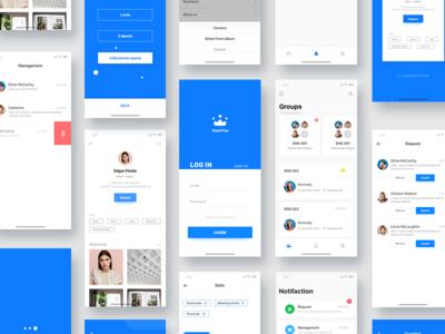 Group App UI ui interface user group team