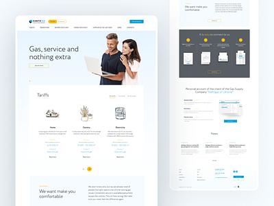 Homepage for gas.ua web design tag corporate design productdesign gas illustrator news minimal branding typography design system logo web concept website ux ui flat design