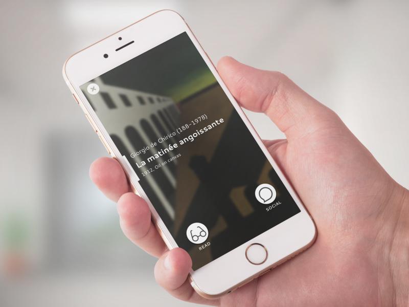 Art Museum App app concept art museum design ui