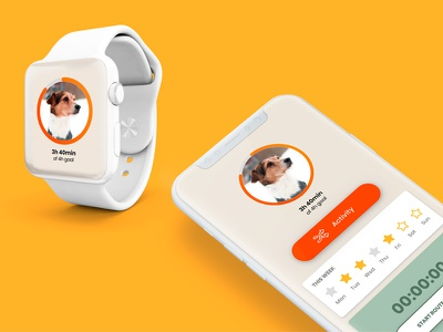 Hi Dribbble! This is Anaxeos, an activity monitor for dogs. apple watch iphone x app ux ui