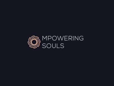 Mpowering Souls flat vector logo identity illustration graphic brand brilliant ux design