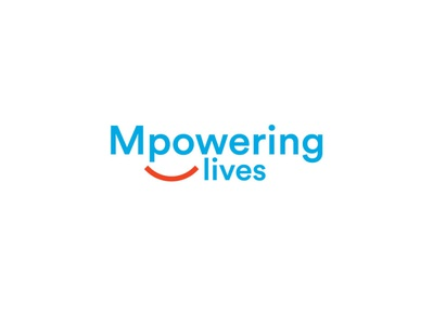 Mpowering Lives vector logo identity illustration graphic brand icon brilliant eye smiling live power