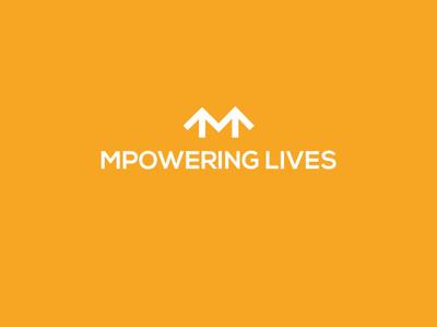 Mpowering Lives4 flat vector logo identity illustration graphic brand design brilliant power arrow minimal