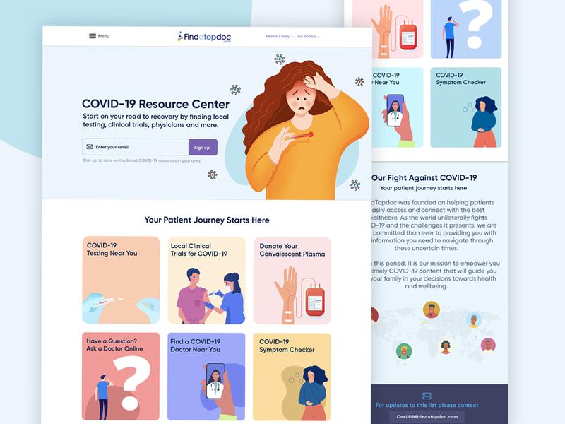 pja website design webdesign inspiration muzli web uiuxdesign graphic colors patient illustration ui ux concept doctorsite covid covid-19