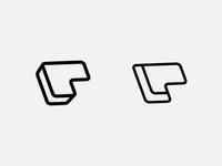 PL logo concept identity typography flat brilliant design art logotype logo p logo lettermarklogo lettermark vector brand branding icon