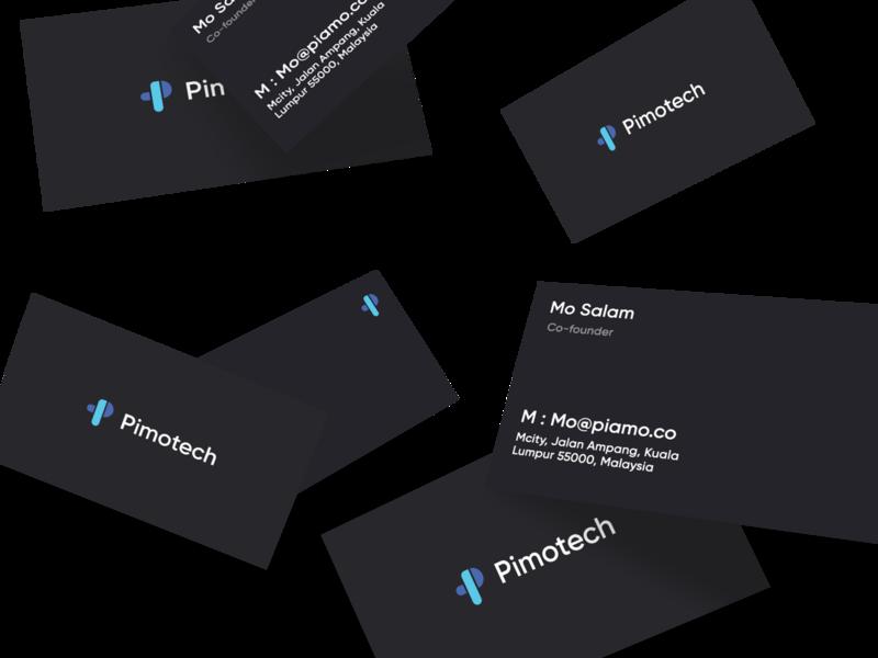 Pimotech mockup design flat identity vector businesscard graphic brand icon tech logo p logo typography branding brilliant