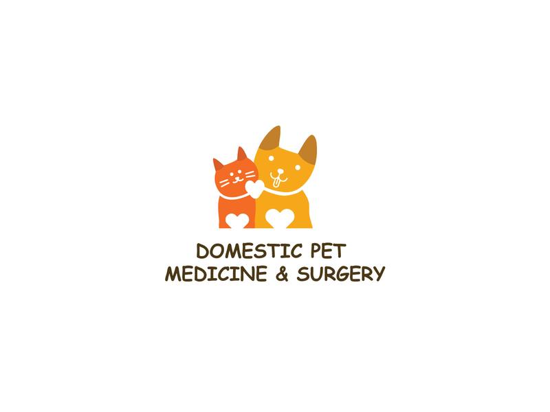 pets lgoo brand animal logo dog logo cat logo branding flat vector logo identity illustration brilliant design