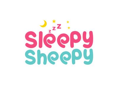 sleppy sheepy minimal typography flat identity vector logo branding illustration brilliant design