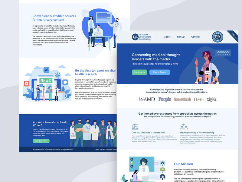 PJA design identity homepage flat vector graphic illustration webdesign website brilliant ux ui