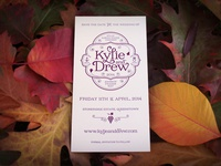 K+D letterpressed Save the Date