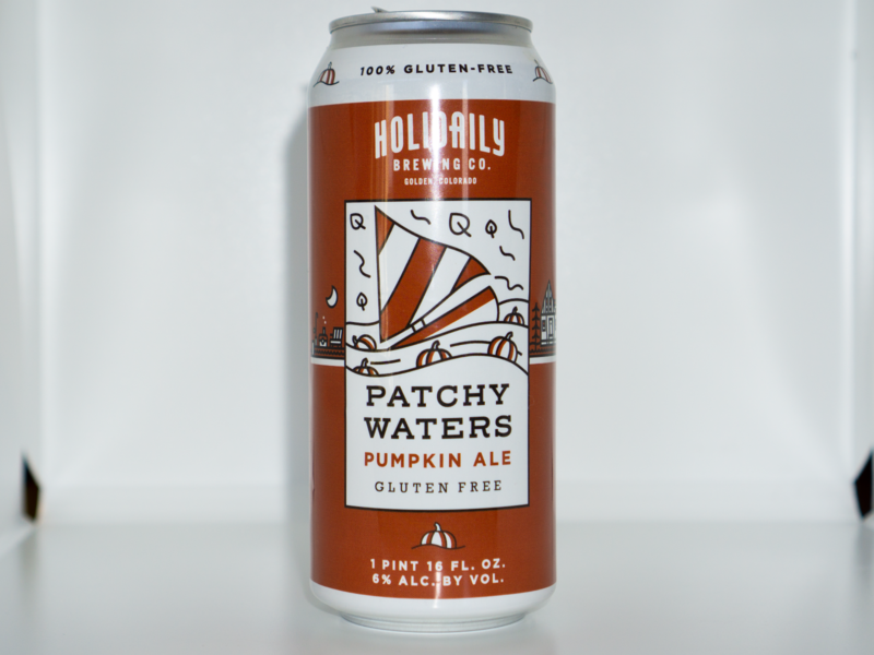 Patchy Waters Pumpkin Ale golden co gluten-free beer sail boat pumpkin