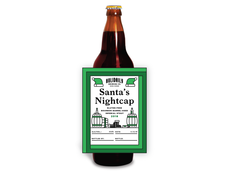 Santa's Nightcap 2018 colorado stout santa gluten free bomber beer