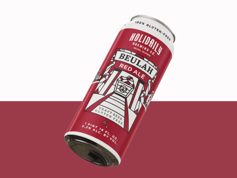 Beulah Red Ale craft beer mining colorado illustration beer gluten-free