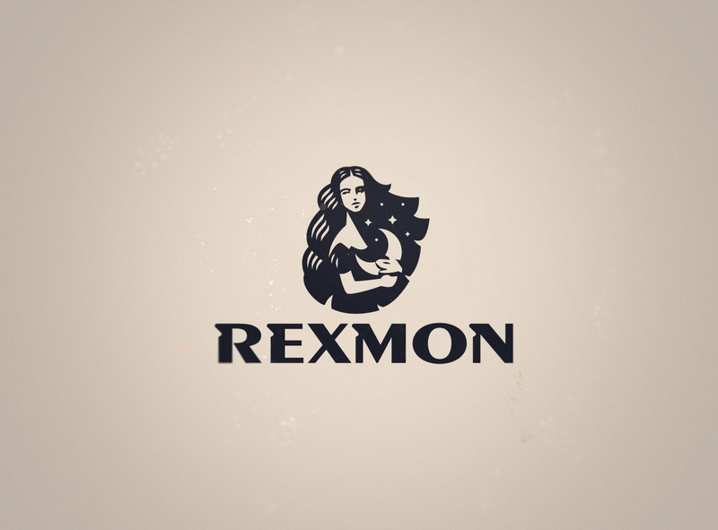 Rexmon logo moon woman