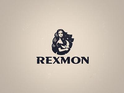 Rexmon logo moon woman