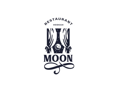 Moon logodesign logo restaurant logo moon restaurant bar hookah