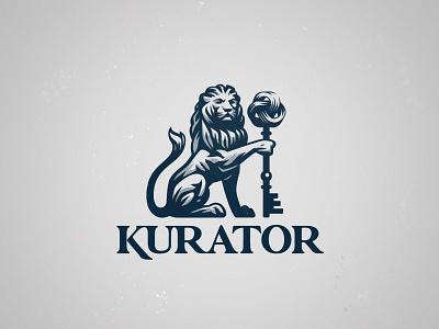 Kurator penrose logo key lion