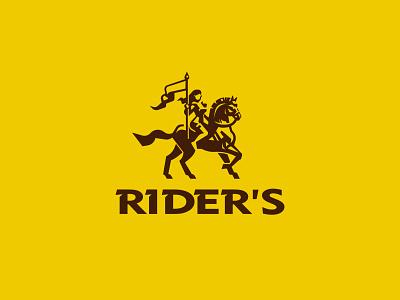 Rider's woman horse rider logo
