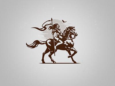 Rider's logo logo flag horse woman rider