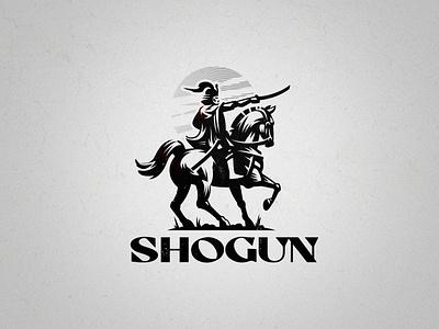 Japanese commander Shogun horse helmet samurai logo rider japan shogun