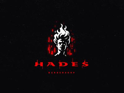 """Hades"" logo. barbershop barber hades logo"
