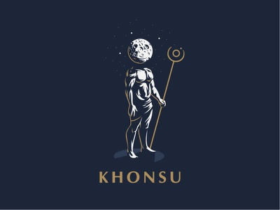 ☥ Egyptian God Khonsu. vector mythology logo illustration khonsu moon graphics gods egyptian egypt design