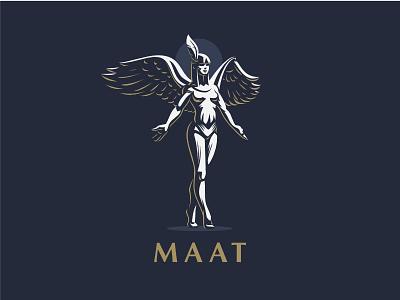 ☥ Egyptian Goddess Maat. vector mythology logo illustration maat ankh feather graphics gods egyptian egypt design