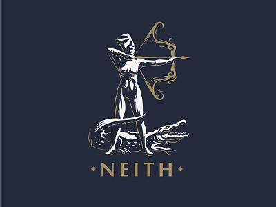 ☥ Egyptian Goddess Neith. mythology logo maat neith crocodile arrow bow gods egyptian egypt