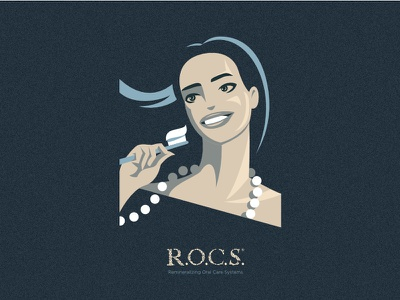 R.O.C.S. pearl toothbrush toothpaste girl