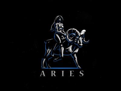 Aries horoscope zodiac space stars woman ram aries