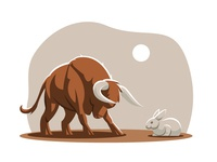Bull Vs Rabbit