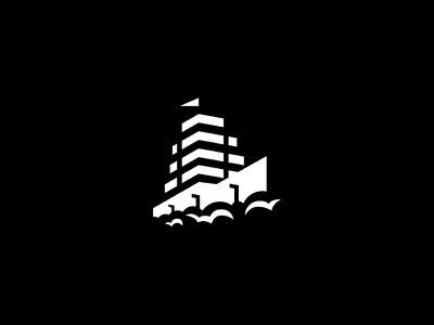 White wind city floor flag trees waves building sails ship
