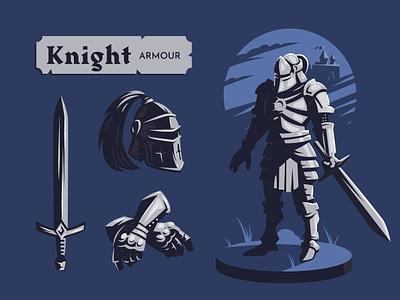 Knight armour medieval illustration vector armour knight