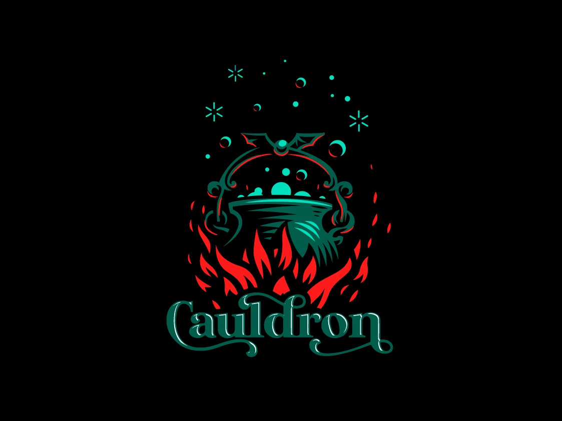 Cauldron fire flame magic cauldron