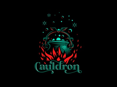 Cauldron fire flame magic cauldron