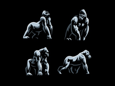 Gorillas monkey ape gorilla