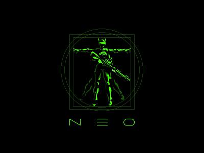 NEO LOGO. Cyberclub sportlogo cybersport