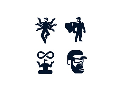 Logo for a technical company. woker man technical