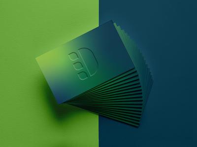 D + Leaf Logo Concept Business Card web logotype ui graphic design typography monogram illustration branding logo design