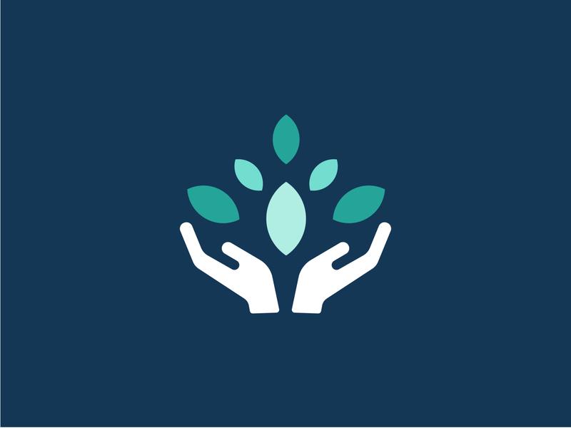 Hands Logo brand design pantone app icon graphic design typography illustration branding logo design hands